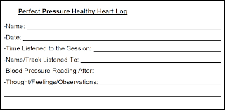 blood pressure readings log perfect pressure healthy heart a systematic hypnotic approach for