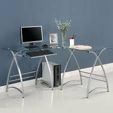 l shaped glass computer desk rger imge wker ex shped gss top canada corner