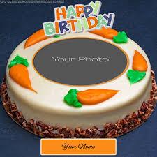 <b>Birthday Cake</b> with Name and Photo Edit - birthdayphotoframes.com