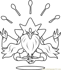 Small Picture Mega Alakazam Pokemon Coloring Page Free Pokmon Coloring Pages