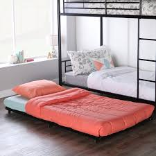 Black Metal Twin Bed Roll Out Trundle Frame Walmart