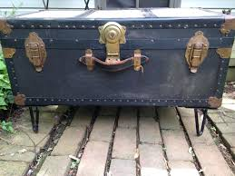 Black Steamer Trunk Coffee Table Trunk Coffee Table Diy Coffee Tableold Wood Trunk With Metal