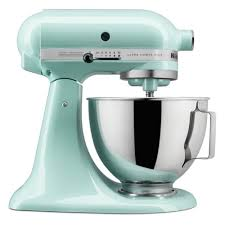 Kitchen Aid Ice Blue Kitchenaid Ksm95ic Ultra Power Tilt Head Stand Mixer Ice 45qt