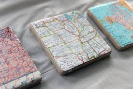 diy map coasters make your own coasters for a great gift idea choose any
