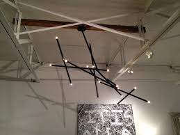 billy cotton pick up stick light sculpture black finish and lovely billy cotton chandelier view
