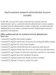 Network Administrator Resume Sample Resume Peppapp
