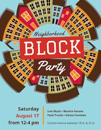 Block Party Flyer Neighborhood Block Party Flyer Template