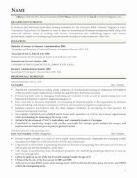 Mba Application Resume Sample Resume format for Mba Application New Adorable Resume for Mba 29