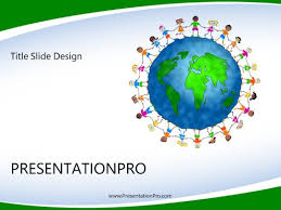 World Culture Kids Powerpoint Template Background In Global