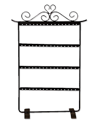 Jewelry Display Floor Stands Metal Earring Jewelry Display Rack Holds 100 Pairs jewelry 66