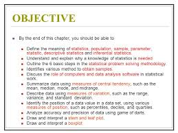 introduction to applied statistics ppt  3 objective