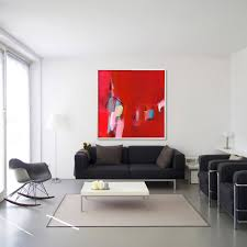 Large Living Room Paintings Huge Abstract Giclee Print From Abstract Original Red Painting