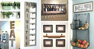 diy kitchen decorating ideas accent wall decor unique home rustic with paper bathroom art excellent or