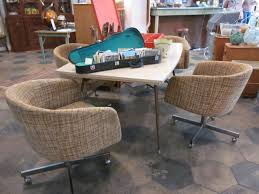 99 dining room set with rolling chairs superb