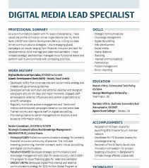 This social media resume guide will show you this resume format places your most recent social media marketing experience and education entries first, and it goes backward in time from there. Social Media Manager Resume Experience Expert Specialist Duties Hudsonradc