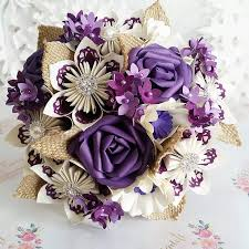 Paper Origami Flower Bouquet Paper Wedding Bouquet Origami Flower Bridal Alternative Uk Crafts