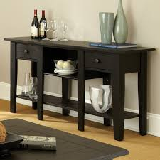 Admirable Black Console Table Decorating Furniture features Brown