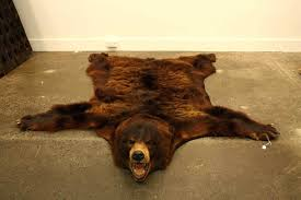 luxury bear skin rug with head and image of brown bear skin rugs 24 faux bear