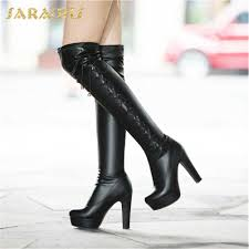 <b>SARAIRIS</b> 2018 genuine leather shoelaces plus size <b>34-43</b> platform ...