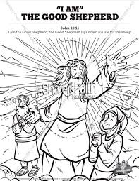 The shepherd counts his sheep to make sure that not one is lost. John 10 The Good Shepherd Sunday School Coloring Pages Sunday School Coloring Pages