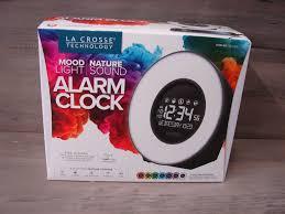 la crosse technology color mood light alarm clock with nature sounds nice 757456083117
