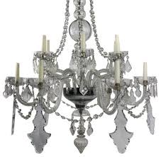 large antique french cut glass chandelier 2