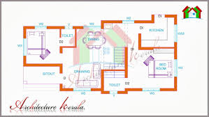house plan 800 sq ft kerala two bedroom house plan for small families plots