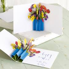 Spring Photo Cards 3 Pop Up Spring Posy Cards