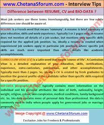 Biodata Resume And Curriculum Vitae Difference Resume Cv Bio Data