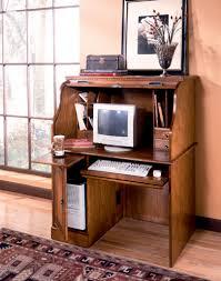Image of: Minimalist Roll Top Computer Desk