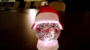 Lighted Snowman Snow Globe Color Changing Lighted Snowman Snow Globe