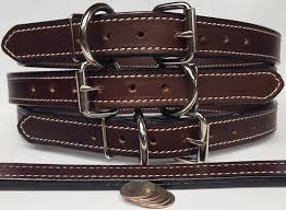 100 genuine leather dog collar thick 2 ply 1 25 inch wide