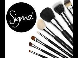 giveaway sigma makeup brush set colsed
