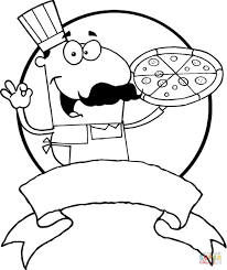 Small Picture Italian Pizza Chef coloring page Free Printable Coloring Pages