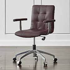 crate and barrel home office. Wonderful Home Navigator Saddle Brown Leather Office Chair To Crate And Barrel Home L