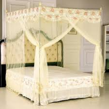 Romantic Canopy Bedroom Furniture Crystal Chandelier Wooden Table Lamp  White Tufted Headboard Black Iron Tiled Chair Gold Carving Bed Frame