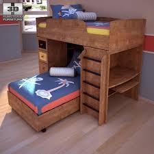 ashley alexander youth loft bed 3d model