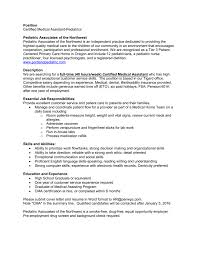 medical assistant skills and abilities certified medical assistant pediatric associates of the nw