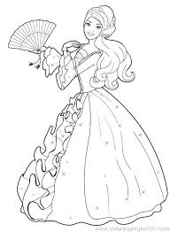 Barbie Coloring Pages For Free Print A Princess Free Printable