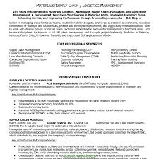 Complex Supply Chain Management Resume Format 18 Best Non Profit