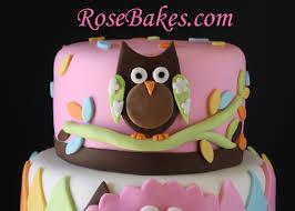 Owl Baby Shower Cake  Heavy CakeOwl Baby Shower Cakes For A Girl