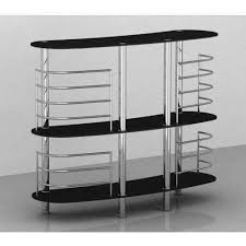 Uk Display Stands Ltd Black Glass Bar Display Stand 100
