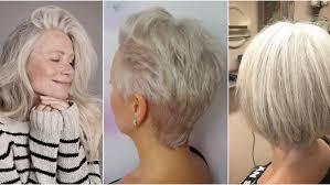 Image Coiffure Cheveux Gris Femme 50 Ans Coiffure Cheveux Mi
