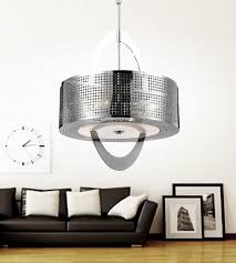 enlarge image description this breathtaking 4 light drum shade chandelier with chrome