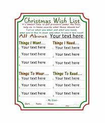 Printable Christmas Gift List Template Printable Christmas Wish List Template Thirdbattalion Info
