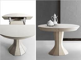 square or round expandable dining table modern round expandable dining table by bauline