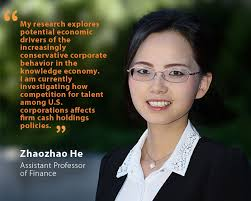 Unh Quote Custom Zhaozhao He Assistant Professor Of Finance UNH Today