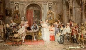The Marriage Contract Artwork By Juan Pablo Salinas Y Teruel Oil