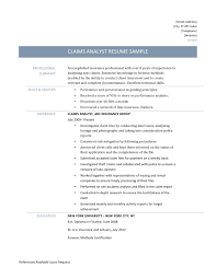 Claims Analyst Sample Resume Globalisation Friend Or Foe Essay Example Resume Enrolled Nurse 2