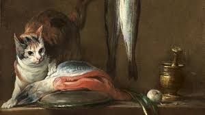 Still <b>Life With Cat</b> and Fish - Chardin, Jean Baptiste Simèon. Museo ...